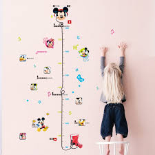 Kids Height Chart Us 1 98 20 Off Removable Kid Height Chart Mickey Mouse Measure Room Wall Sticker Home Decal Decor Care Growth Art In Wall Stickers From Home