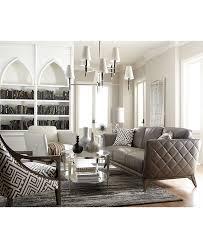 Macys Living Room Furniture Kaleb Tufted Leather Sofa Sofas Leather And Leather Sofas