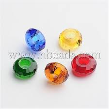 76 faceted glass european beads large hole beads no metal core rondelle mixed color 14x7mm hole 5 5mm gpdl f007 m