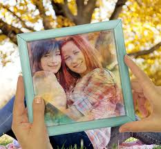 Photo of two girls turned into watercolor painting ...