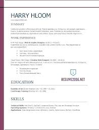 Best Resume Format 2017 Enchanting Current Resume Format 60 Best Of Resume Design 60 Creative