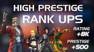 High Prestige Rank Ups R4 5 Star Lord R5 4 Quake R5 4 Phoenix Marvel Contest Of Champions