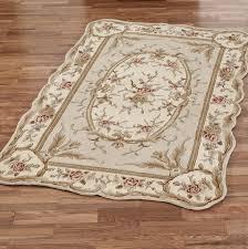 rose tufted rug ivory
