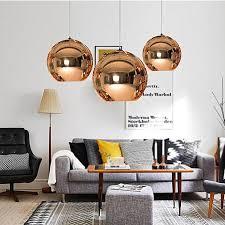 generic 1pcs 40cm glass mirror ball ceiling pendant light modern tom dixon lamp chandelier