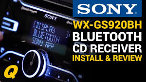 sony wx gs920bh cd receiver with bluetooth install and overview sony wx-gt90bt bluetooth pairing sony wx gs920bh cd receiver with bluetooth install and overview