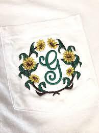 Sunflower Monogram Shirt Daisy Monogram Flower Monogrammed