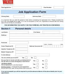 Generic Blank Job Application Blank Employment Application Form Free Sample Download Standard