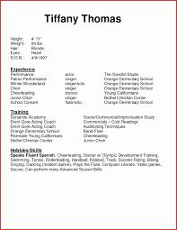 Acting Resume Template Elegant Modeling Beginner Resume How To