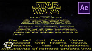 star wars template star wars title crawl after effects template