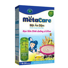 CHÍNH HÃNG] Bột ăn dặm gạo sữa dinh dưỡng & Olive Nutricare cho bé từ 4  tháng trở lên