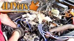 diy ford 2 5l 4cyl spark plug and wire replacement