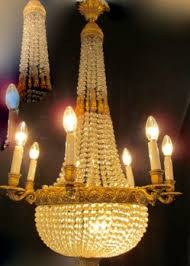 martinez antiques ormolu crystal empire style c 1880 10 bulbs