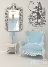 alice in wonderland inspired furniture. Wall Mural Alice In Wonderland: With Flamingo - \u2022 PIXERSIZE.com Wonderland Inspired Furniture