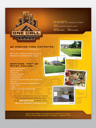 one call property preservation promotional flyer ecce design studio one call property preservation promotional flyer