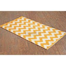 hand woven flatweave 2 x 3 8 yellow chevron rug style