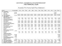 Sample Pro Forma Cash Flow