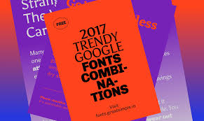 Free Fonts For Graphic Designers 2017 2017 Trendy Google Fonts Combinations On Behance