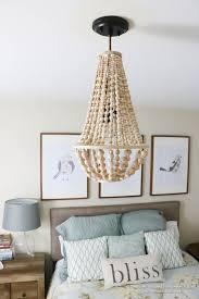 remodelaholic how to make a wood bead chandelier regarding elegant home wooden beaded chandelier plan