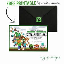 minecraft birthday invitation printable minecraft party minecraft birthday invitation printable