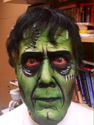 frankenstein makeup face painting theatre make up this took me 30 minutes you can t see the bolts and sches so cool