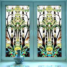 l and stick window stained glass stickers on frosting plastic width self adhesive privacy office