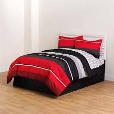 red queen bedding comforter and sheet sets bag clearance black gray c size bedroom comforters skull
