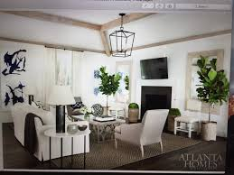 Neutral Room with Fiddle Leaf Fig - Atlanta Homes - Sea Island Getaway by  Alissa Portman