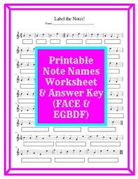 Treble Clef Music Store Treble Clef Note Name Printable Worksheet Face Egbdf