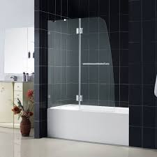 Glass Doors For Bathtub Interesting Tub Shower Combo With Glass Doors Over Swinging