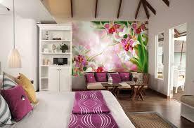 Purple Flower Wallpaper For Bedroom 20 Lovely Patterned Floral Wallpaper Ideas For Bedroom Decor