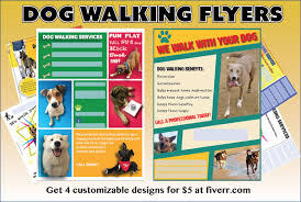 Effective Dog Walking Flyer: design and content tips dog walking flyer designs