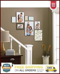 set of 6 wall picture photo poster frame 8 x 10 format hanging home decor glass