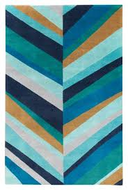 lines blue by for the rug company jonathan adler rugs