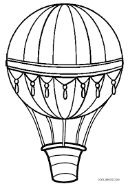 balloon coloring page printable hot air pages for kids preschool