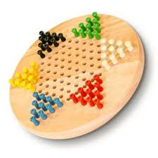 700193 chinese checkers 7 wooden with pegs