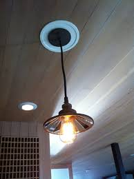 how to change recessed lighting to pendant bright convert recessed light to pendant on wood ceiling