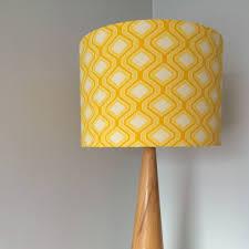 bright retro print handmade lampshade