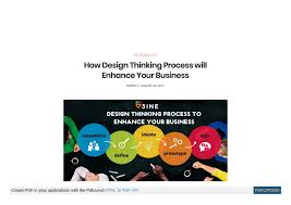 Design Thinking Process Pdf How Design Thinking Process Will Enhance Your Business By