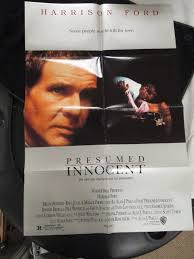 Presumed Innocent Film New Vintage Movie Poster 44 Sh Presumed Innocent Harrison Fo