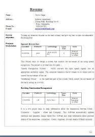 Academic Curriculum Vitae Sample Free Download Excellent Cv Format