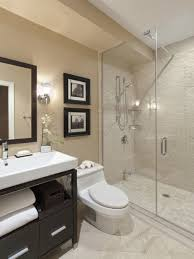 Bathroom Casual Modern Beige Small Bathroom With Shower Stall - Beige bathroom designs