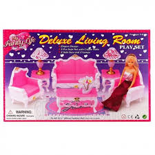 Room Sofa Table Lamp Furniture Play Set 1 6 for Barbie Monster