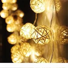 2 2m 20 led rattan ball fairy string