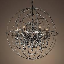 attractive orb light fixture foucaults orb chrome chandelier light
