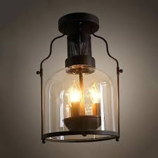 wrought iron lights industrial wrought iron chandelier with black metal cage frame and clear glass shade wrought iron