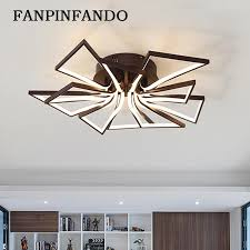 new creative modern led chandelier for living room bedroom res acrylic led ceiling chandelier lighting fixtures brown white decorative chandelier