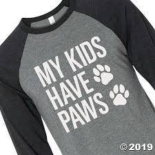 <b>My Kids Have Paws</b> Adult's T-Shirt | Oriental Trading