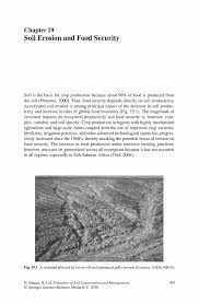 soil erosion and food security springer principles of soil conservation and management principles of soil conservation and management