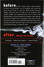 Looking For Alaska Quotes With Page Numbers Simple Amazon Looking For Alaska 48 John Green Books