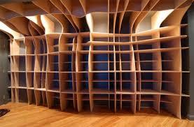 custom built in wood wall shelves